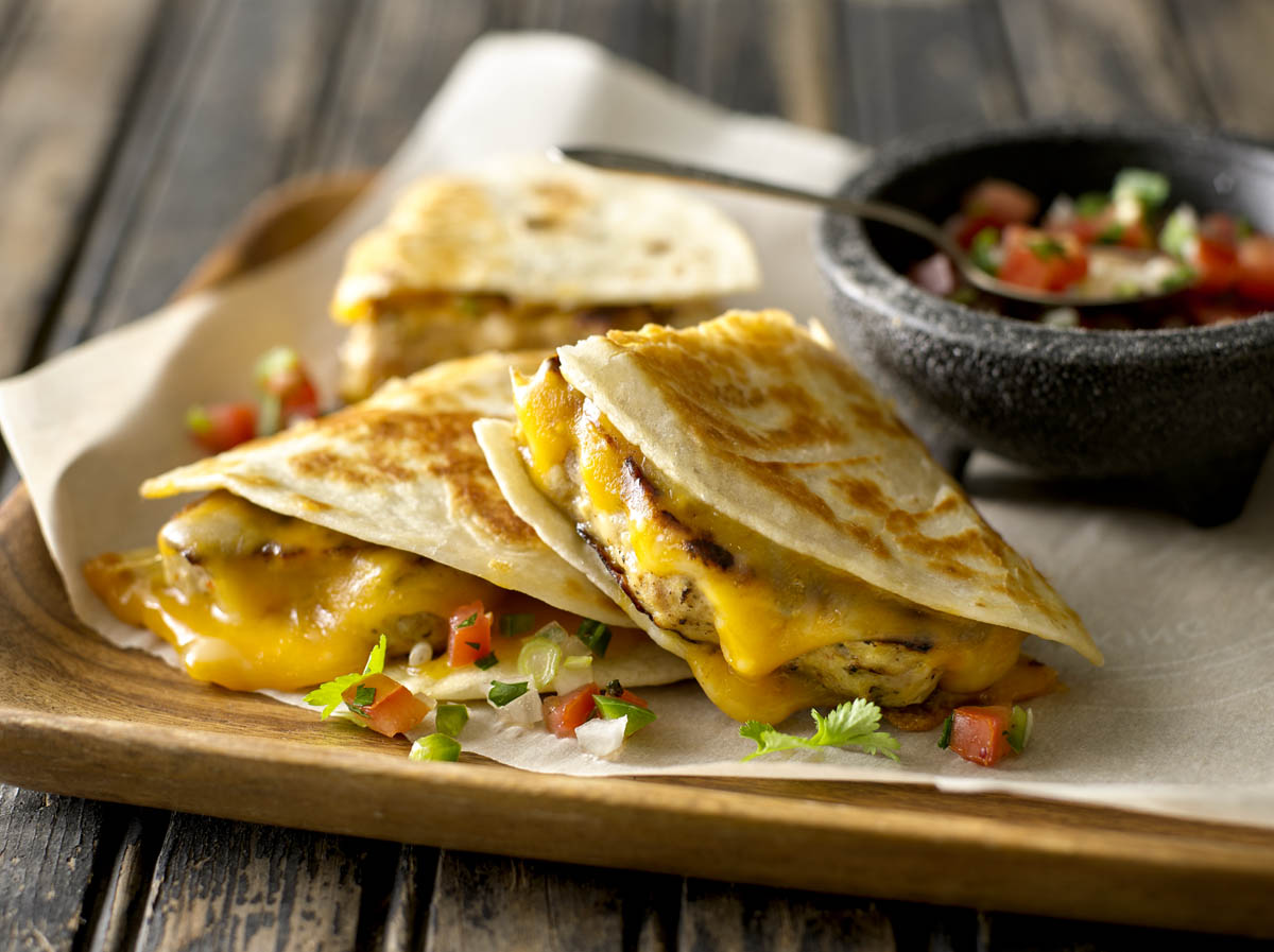 Chicken Quesadilla Burgers