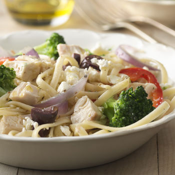 Linguine with Chicken, Broccoli, & Olives